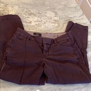 J. Crew Scout chinos, size 2